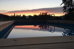 zwembad zonsondergang
